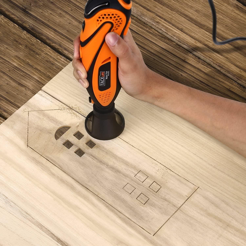 Sierra multifuncion LOWVUM 23Q1-3 agujereando madera