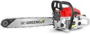 GREENCUT GS620X - Motosierra de gasolina con motor de 2 tiempos